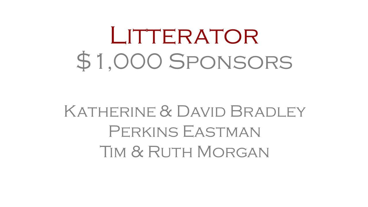 Litterator Sponsors - $1,000