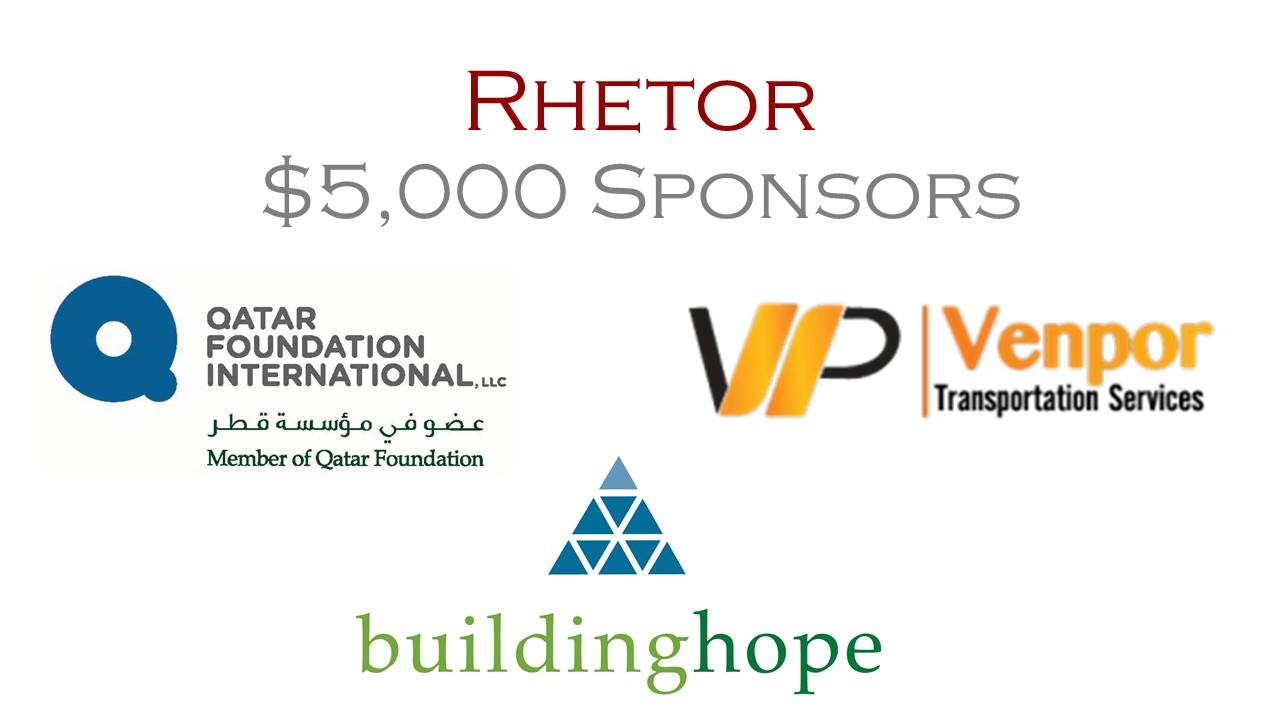 Rhetor Sponsors - $5,000