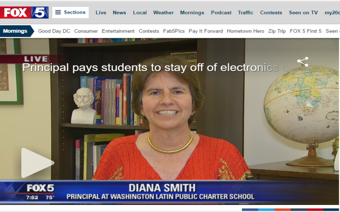 Fox 5 News: Principal Smith interviewed on No-Tech-Tuesday