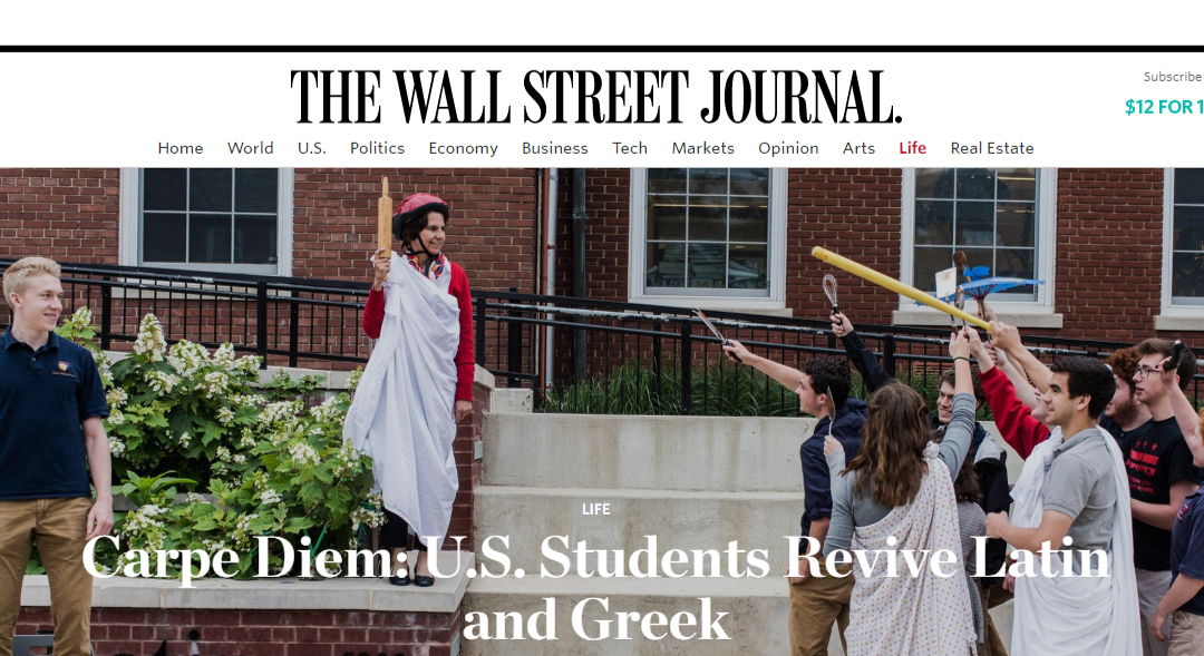 Wall Street Journal article features Washington Latin