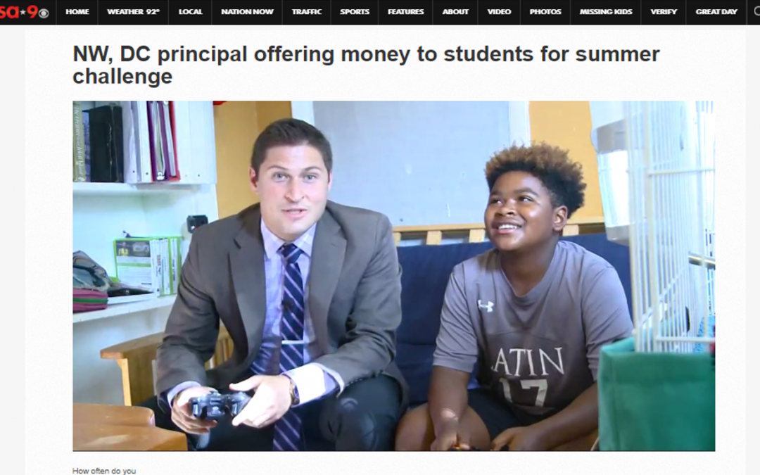 WUSA-9 News Story on No-Tech Tuesday Challenge